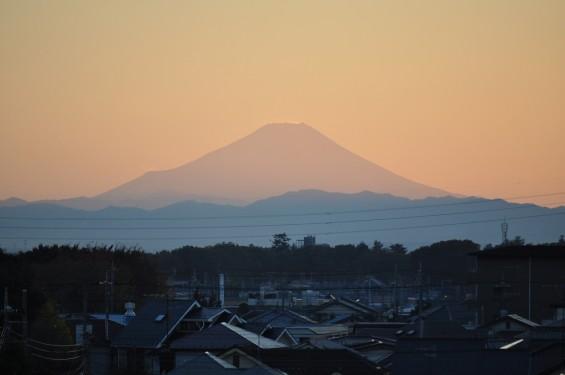 夕焼け富士山 20131119 4