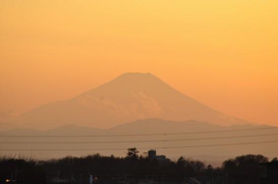 夕焼けと富士山と落日 20140111 DSC_0010