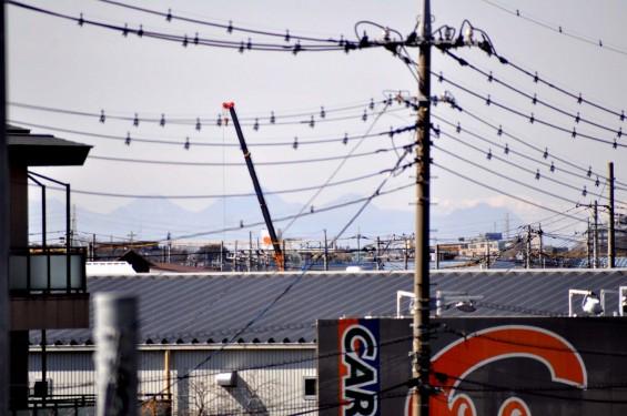 桶川市国道17号坂田交差点から見える榛名山 志賀高原岩菅山DSC_0030+