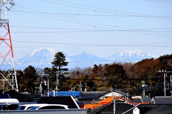 桶川市国道17号坂田交差点から見える日光男体山  DSC_0026+