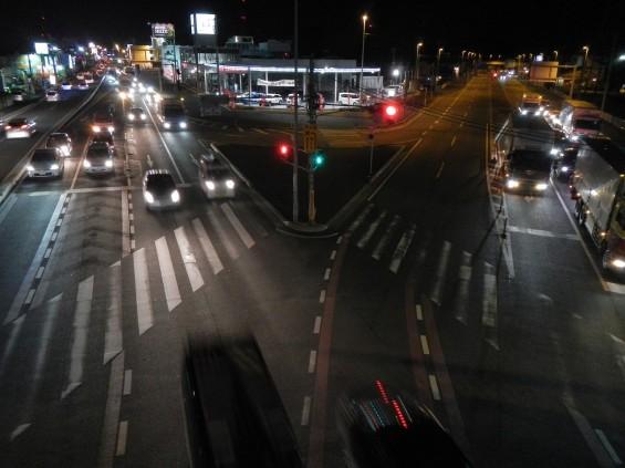 桶川市国道17号坂田交差点に桶川霊園の看板(内照式)ができました 夜 DSCN3826