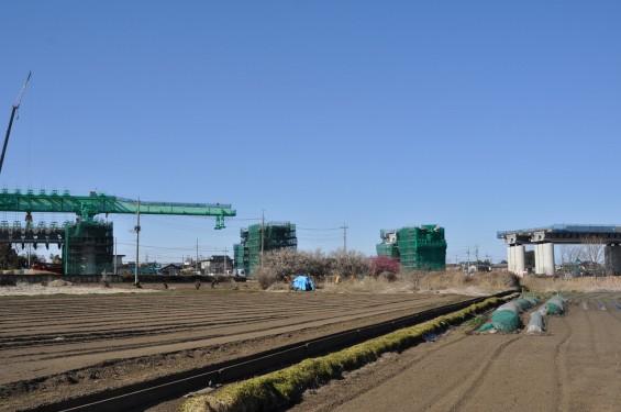 20140126 圏央道進捗状況 桶川市 桶川加納IC、桶川高校入口交差点付近 DSC_0138