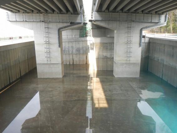 20140418 圏央道進捗状況 桶川市上日出谷 圏央道を跨ぐ陸橋周辺DSCN3983