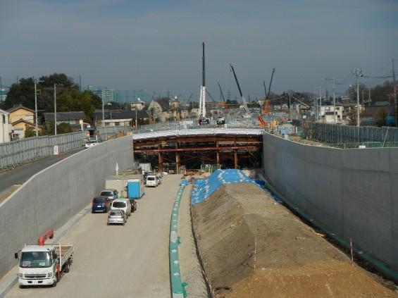 20140418 圏央道進捗状況 桶川市上日出谷 圏央道を跨ぐ陸橋周辺DSCN3953