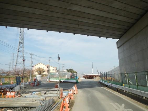 20140418 圏央道進捗状況 桶川市上日出谷 圏央道を跨ぐ陸橋周辺DSCN3998
