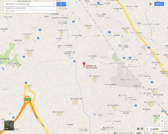 20140418 圏央道進捗状況 桶川市上日出谷グーグルマップ1