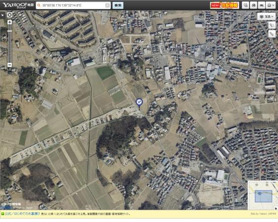 20140418 圏央道進捗状況 桶川市上日出谷ヤフー地図航空写真2
