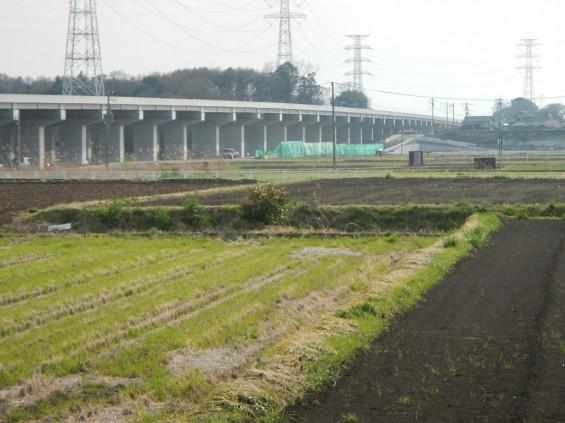 20140418 圏央道進捗状況 桶川市上日出谷 圏央道を跨ぐ陸橋周辺DSCN4011