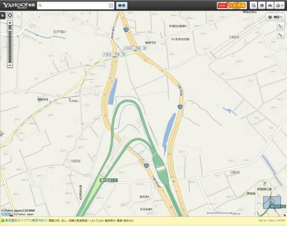 20140410 保存用画像ヤフー地図 圏央道北本桶川IC