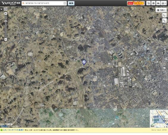 20140418 圏央道進捗状況 桶川市上日出谷ヤフー地図航空写真