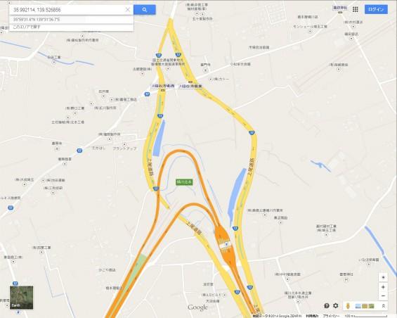 20140410 保存用画像グーグルマップ 圏央道北本桶川IC