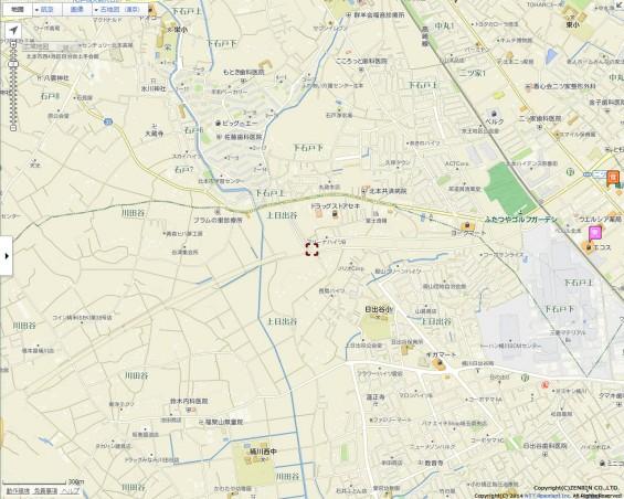 20140418 圏央道進捗状況 桶川市上日出谷goo地図2