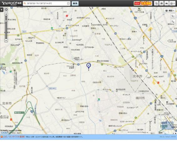 20140418 圏央道進捗状況 桶川市上日出谷ヤフー地図1