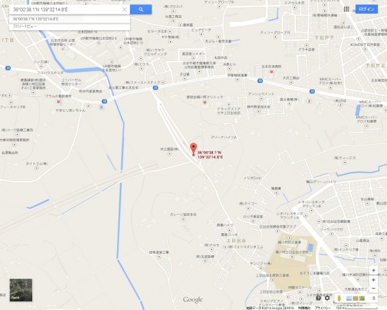 20140418 圏央道進捗状況 桶川市上日出谷グーグルマップ2