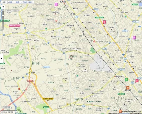 20140418 圏央道進捗状況 桶川市上日出谷goo地図1