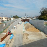 20140418 圏央道進捗状況 桶川市上日出谷 圏央道を跨ぐ陸橋周辺DSCN3954