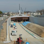 20140418 圏央道進捗状況 桶川市上日出谷 圏央道を跨ぐ陸橋周辺DSCN3952
