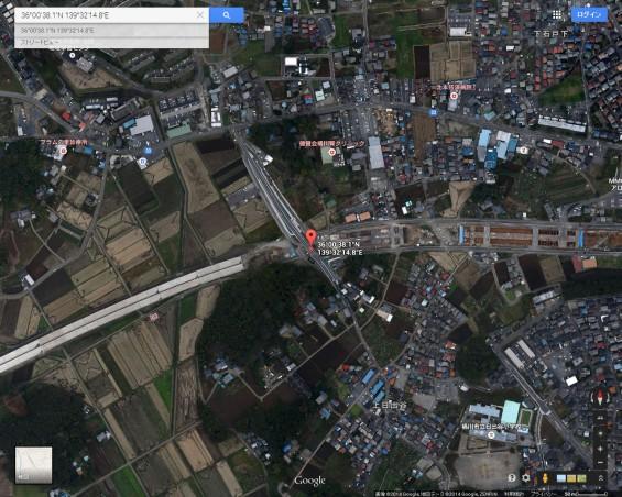 20140418 圏央道進捗状況 桶川市上日出谷グーグルマップ航空写真2