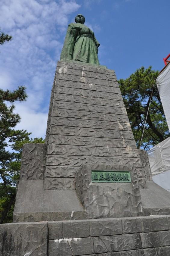 20140501 高知 土佐 桂浜 坂本竜馬像 大接近DSC_0355