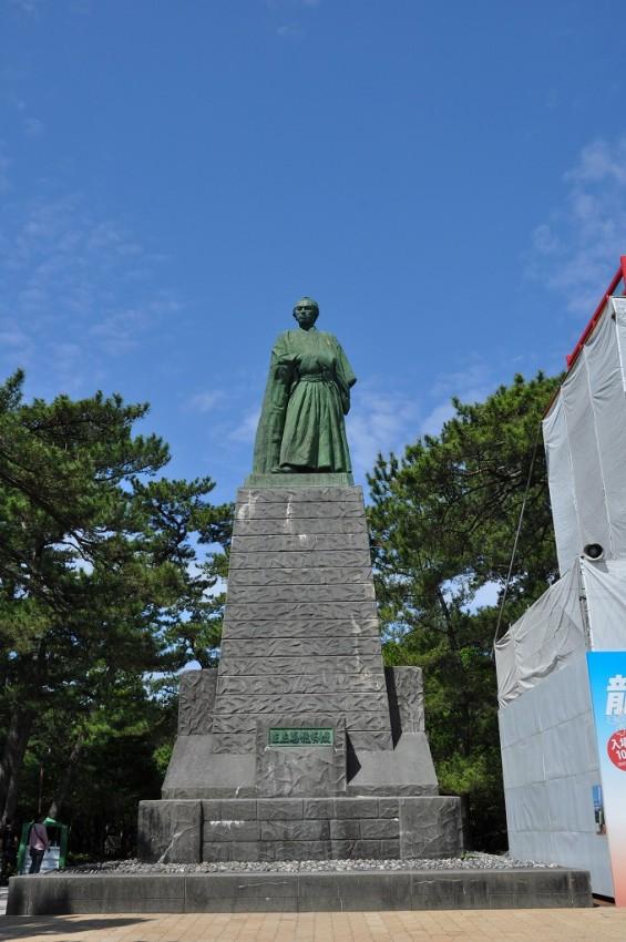 20140501 高知 土佐 桂浜 坂本竜馬像 大接近DSC_0389