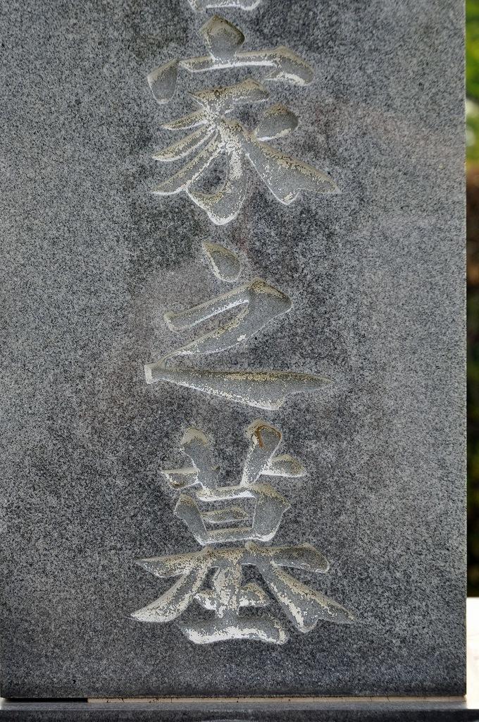 墓石の文字に入れた色、落ちていませんか?DSC_0062