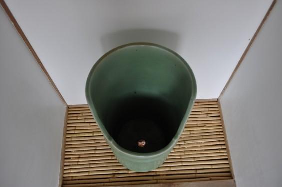 五台山 竹林寺名勝庭園 夢窓疎石国師の作庭 陶器のトイレDSC_0250