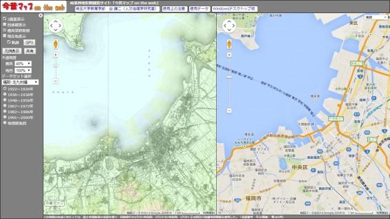 明治期-福岡博多-地図-比較