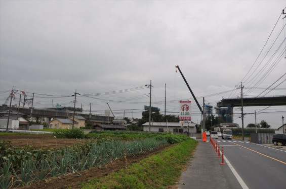 20140911 圏央道進捗状況 桶川市五丁台 上越新幹線 交差DSC_0060