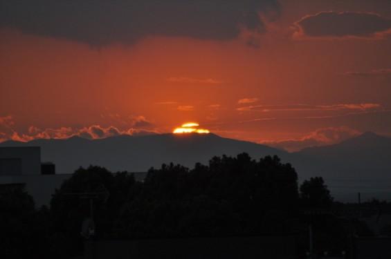 20140913 2014年9月13日の埼玉県上尾市から見えた夕焼けDSC_0080