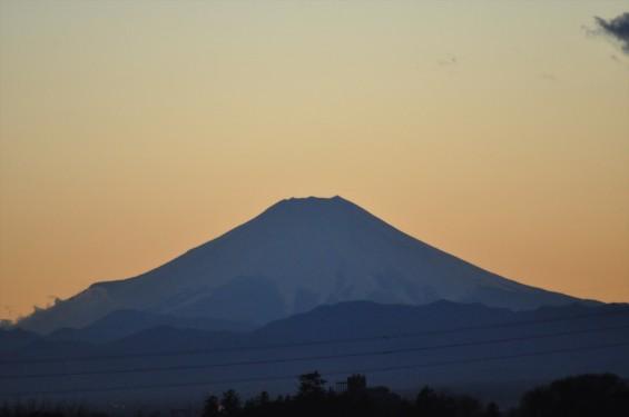 2014年12月22日 冬至の夕方日没後の富士山DSC_0010