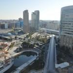 横浜ランドマークタワー 14階 大塚横浜支社から見える景色 日本丸DSC_0048