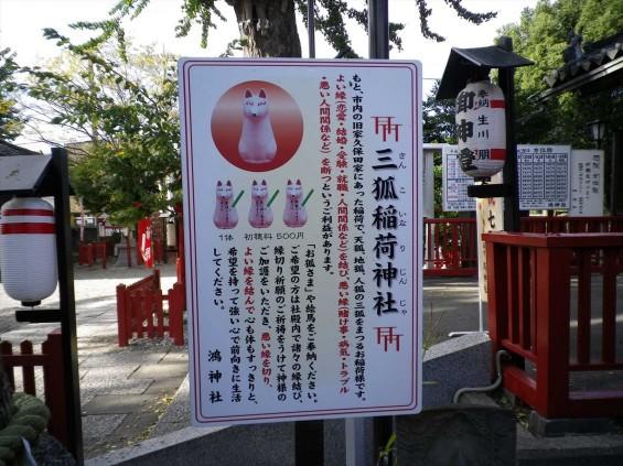 埼玉県鴻巣市 鴻神社(こうじんじゃ) 三狐稲荷神社 IMGP0375