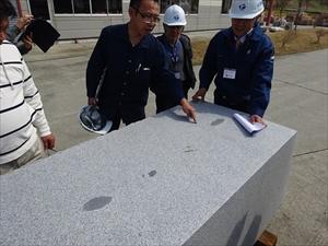 2015年4月1日 採石場・加工工場研修会 滝根みかげ採掘丁場DSC02798
