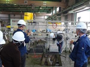 2015年4月1日 採石場・加工工場研修会 フクイシ本社 加工工場DSC02785