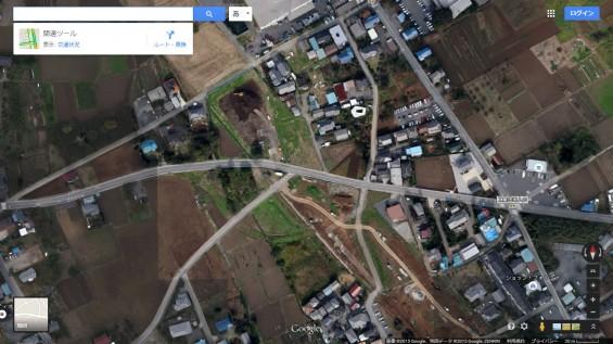 201504 上尾道路の様子 グーグルマップの航空写真