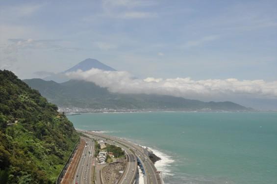 静岡県静岡市清水区 薩埵峠(さったとうげ)DSC_1772 展望台 見える景色と富士山