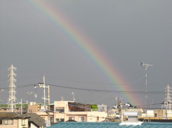 20150815 虹が出ていました(埼玉県上尾市 大塚本社から)IMG_0006