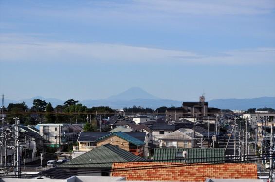 2015年9月30日 埼玉県上尾市から見える富士山 雪がない 夏山DSC_3939+