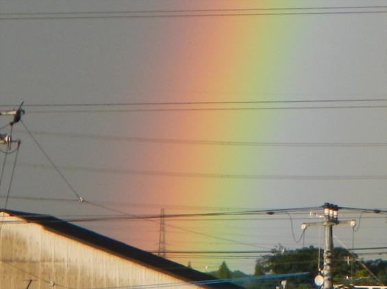 2015年9月9日 台風の土砂降り 虹 全部見える 半弧 半円DSCN7163