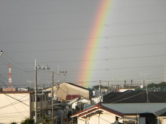 2015年9月9日 台風の土砂降り 虹 全部見える 半弧 半円DSCN7162