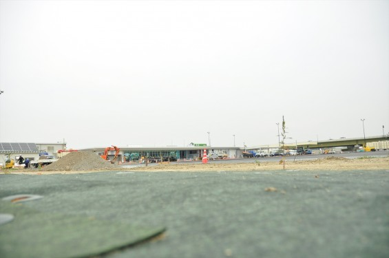 2015年10月 圏央道進捗状況 菖蒲paパーキングエリア 工事中の様子DSC_3863