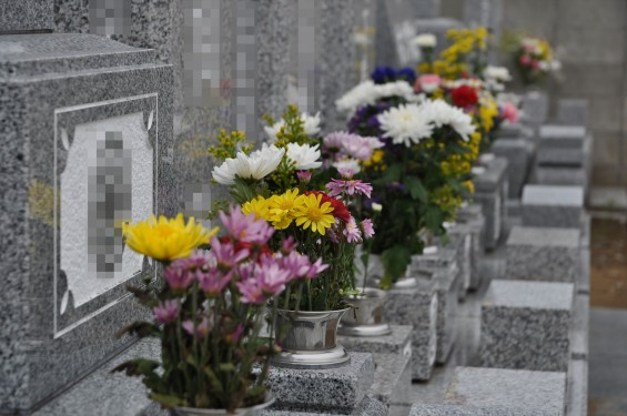 お墓参りの供花 仏花 彼岸 東明寺DSC_3796