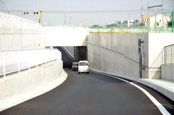 2015年10月 圏央道進捗状況 二ツ家アンダーパス開通(踏切だった場所)-DSC_4094