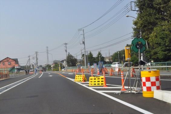 2015年10月 圏央道進捗状況 二ツ家アンダーパス開通(踏切だった場所)-DSC_4053