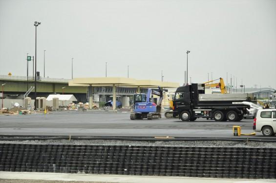 2015年10月 圏央道進捗状況 菖蒲paパーキングエリア 工事中の様子DSC_3857