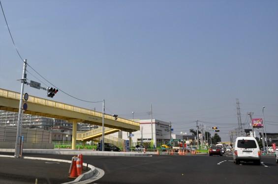 2015年10月 圏央道進捗状況 二ツ家アンダーパス開通(踏切だった場所)-DSC_4047