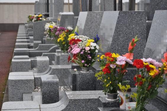 お墓参りの供花 仏花 彼岸 久喜聖地公苑DSC_3813