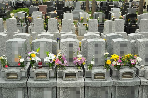 お墓参りの供花 仏花 彼岸 桶川霊園DSC_3880