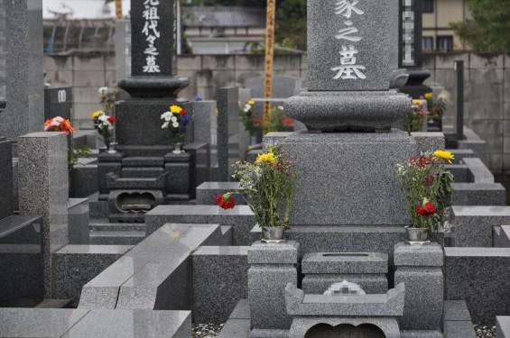 お墓参りの供花 仏花 彼岸 東明寺DSC_3795