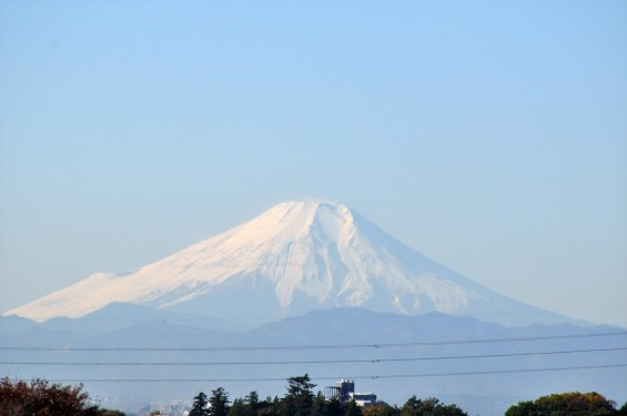 2015年11月27日 埼玉県上尾市から見える白い富士山DSC_4312+